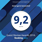 Booking.com - Guest Review Awards 2016 - 9,2 von 10